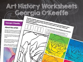 Georgia O'Keeffe Art History Worksheets and Art Activities