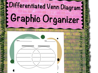 Differentiated Venn Diagram Graphic Organizer
