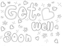 Get Well Soon Colouring Page Health Special Days By Sarah277
