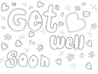 Get Well Soon: Colouring Page (Health, Special Days)