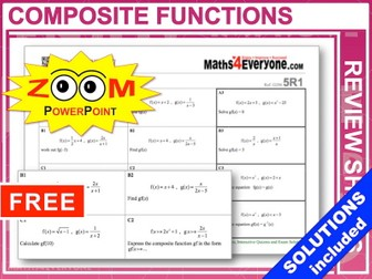 GCSE Revision (Composite Functions)