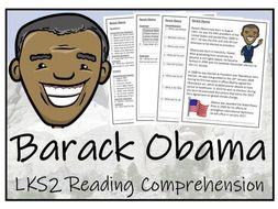 LKS2 History - Barack Obama Reading Comprehension Activity