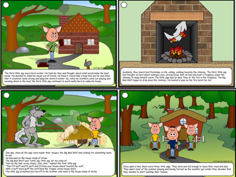 Three Little Pigs Story Sequence - Traditional Tales