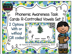 Phonemic Awareness Task Cards: R-Controlled Vowels Set 2