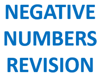 Revision Mat - Negative Numbers