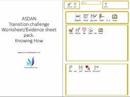SEN ASDAN worksheet pack 1