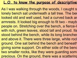 Setting Description Introduction Y 4 5 6 Art English Sketch Fiction descriptive writing