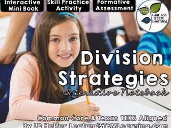 Whole Number Division Strategies Interactive Notebook Set