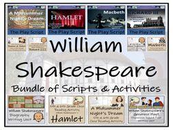 UKS2 Literacy - William Shakespeare Mega Bundle of Play Scripts & Activities