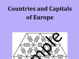 Countries and Capitals of Europe – puzzle
