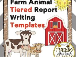 Farm Animal Report: Tiered Report Writing Templates