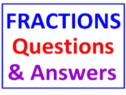 Fractions Questions and Answers