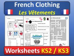 french clothing worksheets by fullshelf teaching resources. Black Bedroom Furniture Sets. Home Design Ideas