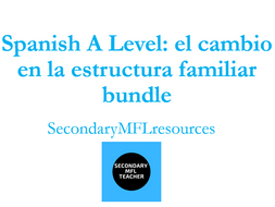 Spanish A Level Family Changes Bundle: los cambios en la familia, el matrimonio, el divorico