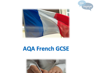 AQA French GCSE writing workbook and model answers