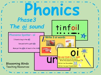 Phonics Phase 3 - The 'oi' sound