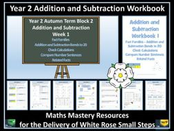 Addition and Subtraction: Year 2 Autumn Term  Block 2 - Workbook 1 (White Rose Small Steps)