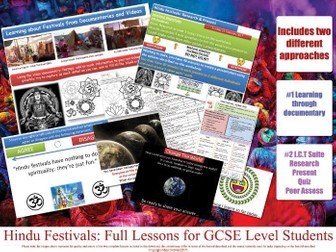 Holi - Hindu Festivals - FULL LESSON - GCSE Hinduism (COMPLETE RESOURCES) KS4 RE RS AQA OCR