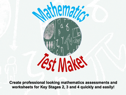 Mathematics Test Maker