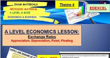 Exchange Rates Full Topic including Lessons PPT, Activities and Starter: A Level Economics