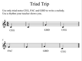 Try-Triads Music Composition Lesson Plan