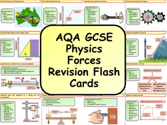 AQA KS4 GCSE Physics (Science) Forces Revision Flashcards