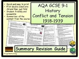 Conflict and Tension Revision Guide Summary AQA GCSE 9-1
