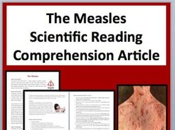 The Measles Comprehension Reading KS3 and KS4
