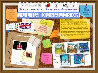 Library Poster - Julia Donaldson UK Author Of Picture Books