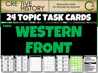 Western Front - History Task Cards