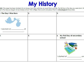 My History - Timeline Storyboard