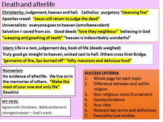 Complete Theme B Religion And Life Lessons Revision Assessment