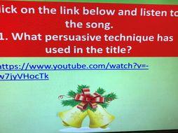 Christmas ENGLISH quiz