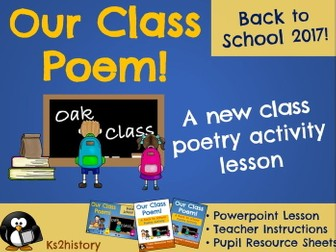 New Class Poetry Activity (Back to School/Transition)