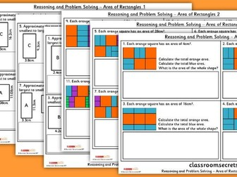 Year 5 Area of Rectangles WRM Perimeter and Area Reasoning and Problem Solving