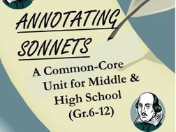 Learning to Annotate Sonnets - A Complete Unit for Middle and High School
