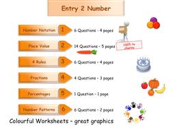 Functional Skills - Numbers Workbook - Worksheet Booklet - Entry 2