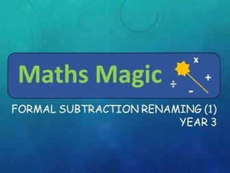 Subtraction with Renaming Formal Method Interactive Lesson (1) Y3