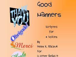 Good Manners - Readers Theatre Script