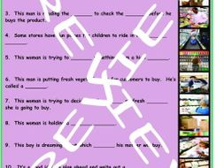 Shopping at Supermarkets 3 Photo Worksheet Set