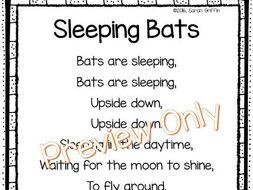 Sleeping Bats Poem for Kids