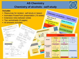 Chemistry of alcohols – AS home learning