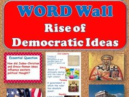 Rise of Democratic Ideas WORD WALL (World History)