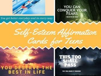 Self- Esteem Affirmation Cards For Teens
