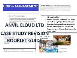 Unit 6 Principles of Marketing Part A Case Study/Revision Guide Booklet
