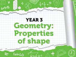 Year 3 – Properties of shapes – Summer week 8 - Block 3 -Recognising and describing 2D and 3D shapes