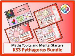 KS3 Pythagoras BUNDLE