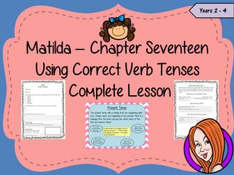 Using Verb Tenses; Complete Lesson  – Matilda