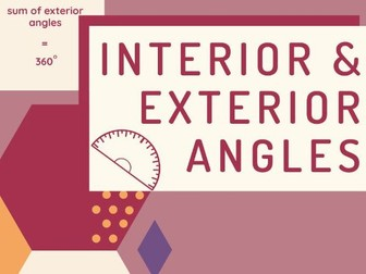 Interior and Exterior Angles of a Polygon: Video