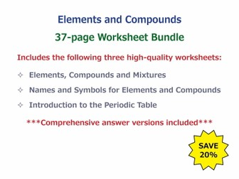 Introduction to the periodic table worksheet by elements and compounds worksheet bundle urtaz Choice Image